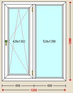 قیمت پنجره دوحالته upvc