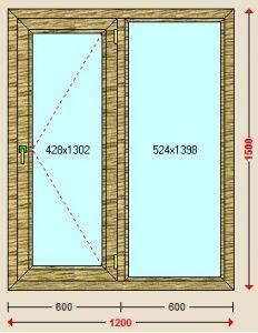 قیمت پنجره دوجداره لمینیت